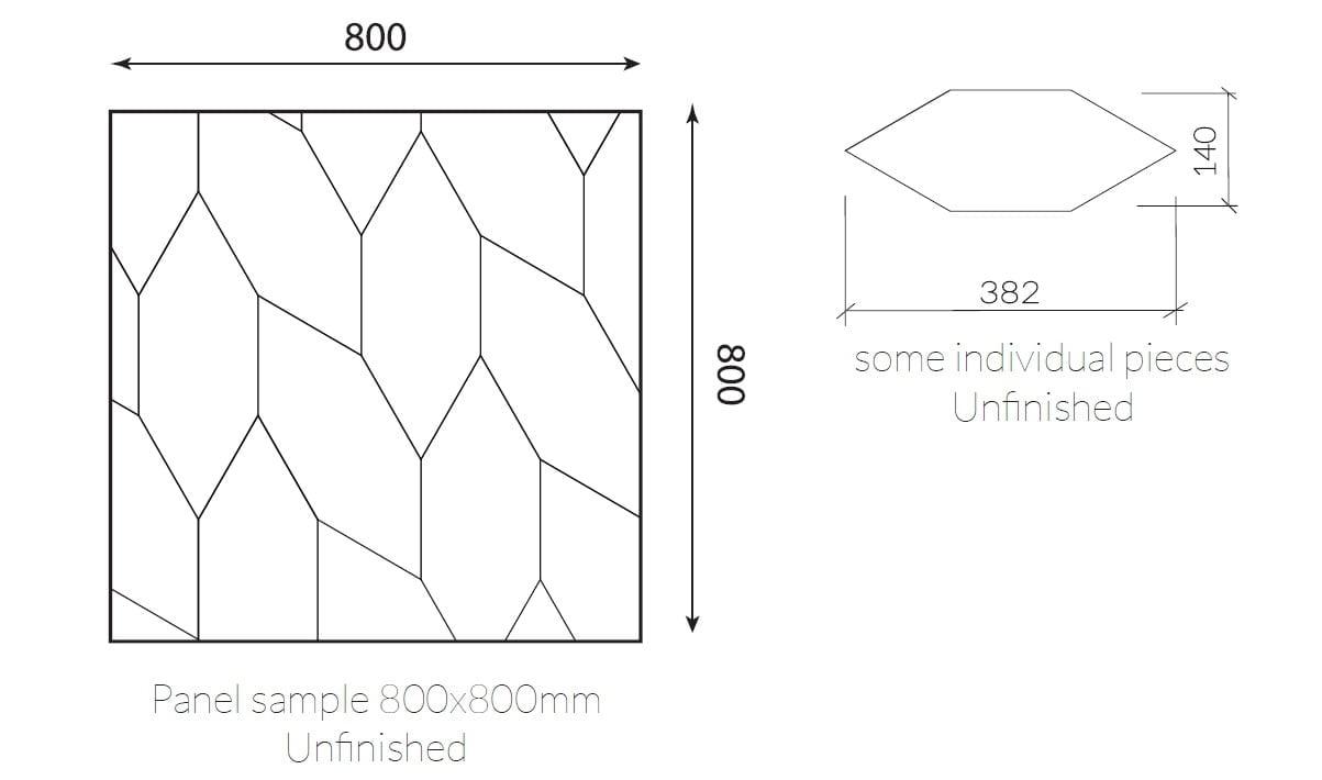 Panel suelo madera 800x800 mm